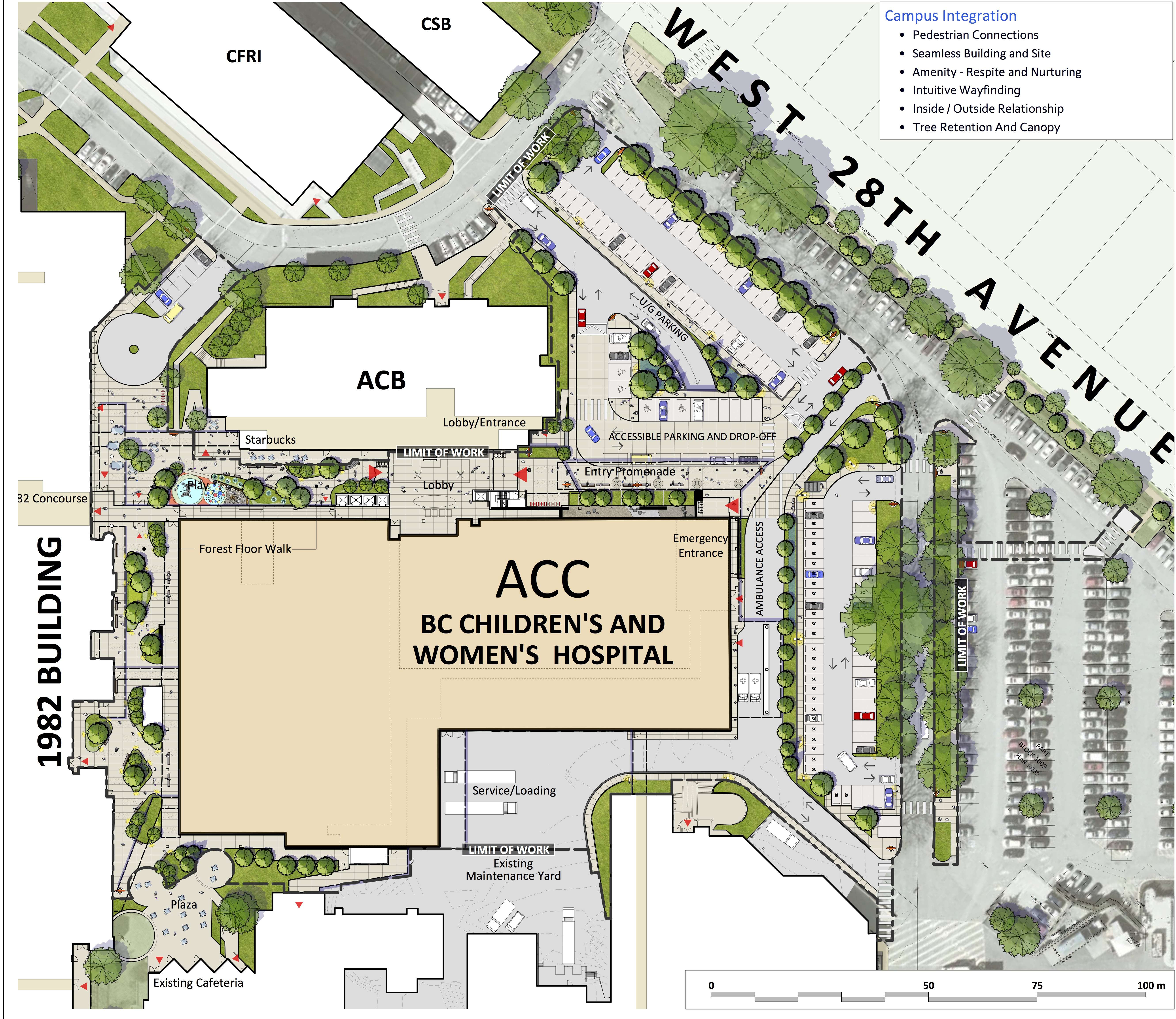 What We Do >> Teck Acute Care Centre (BC Children's And BC Women's Hospital) – Connect Landscape Architecture